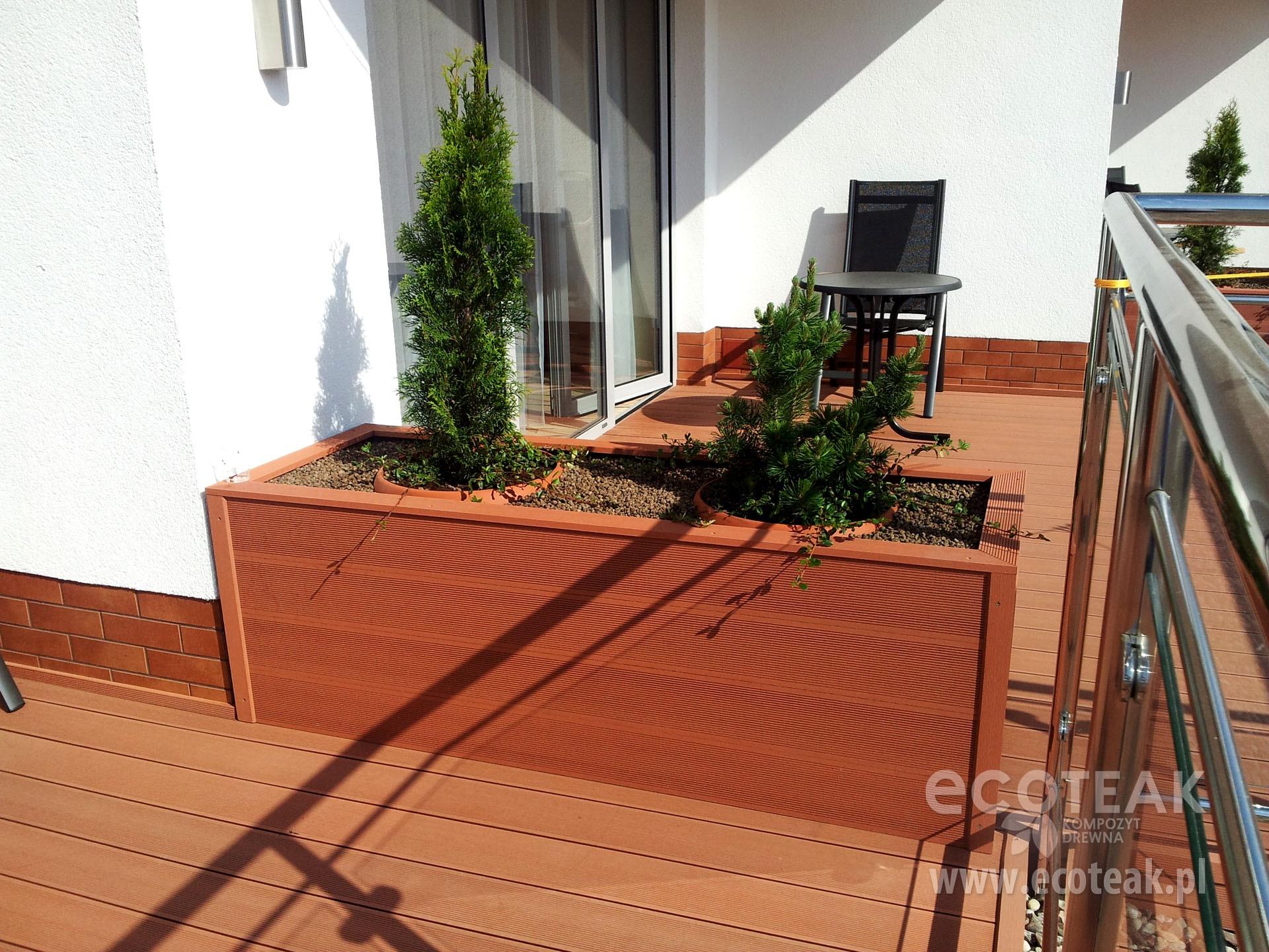 Architektura ogrodowa z kompozytów drewna EcoTeak