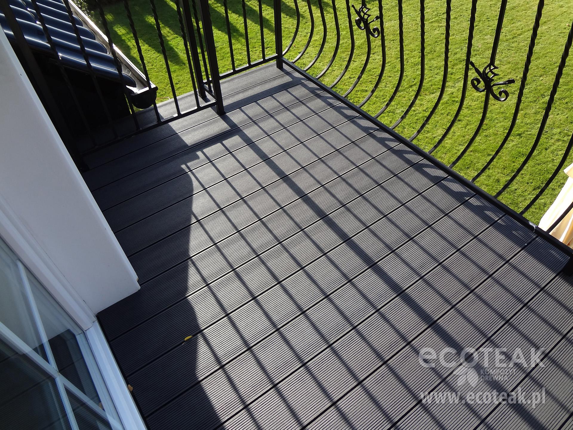 Balkon z kompozytów drewna EcoTeak