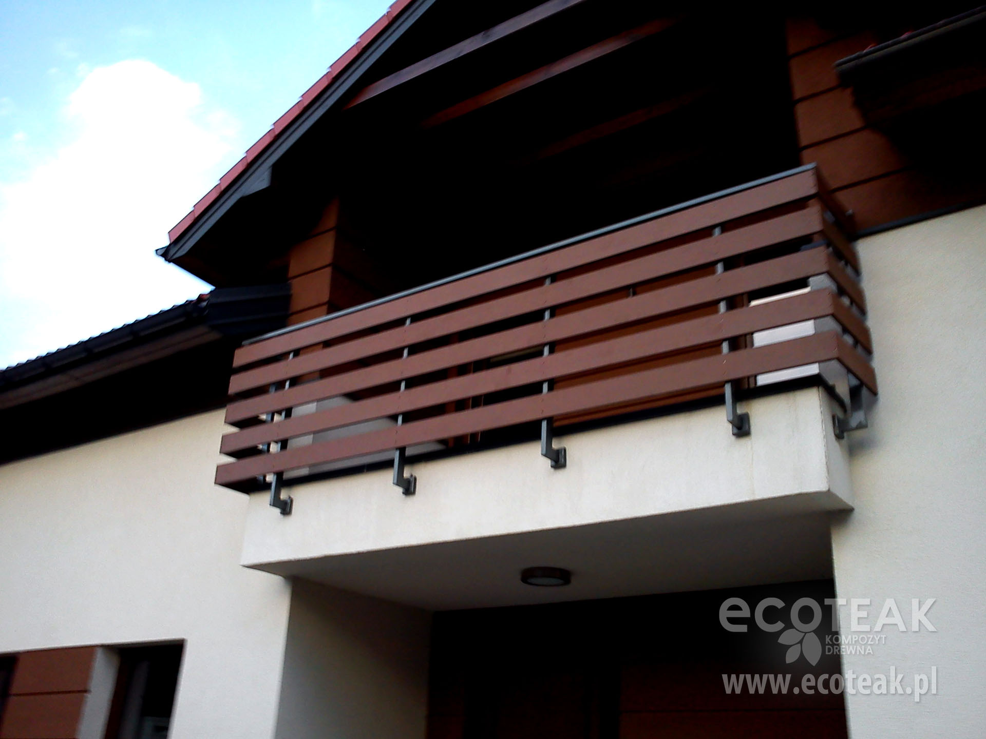 Balustrada z kompozytów drewna EcoTeak